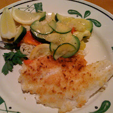 Parmesan Crusted Tilapia With Lemon Caper Sauce