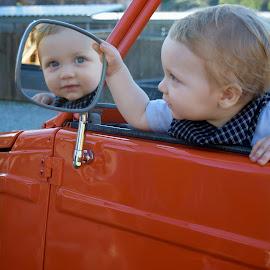 I see you by Stephanie Pollard - Babies & Children Children Candids ( mirror, reflection, blue eyes, baby, boy )
