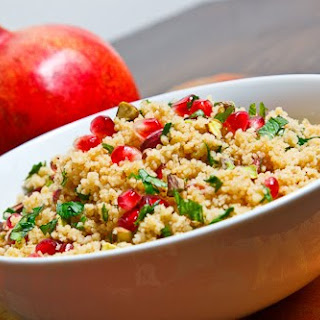 Pomegranate and Pistachio Couscous