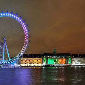 London Eye by Gaurav Dhup - Buildings & Architecture Statues & Monuments ( representing, beautiful, special, beauty, world, landmark, travel, garyfonglandscapes, holiday photo contest, photocontest )