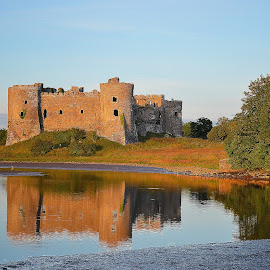 Carew Castle by Les Reynolds Amanda Whichello - Buildings & Architecture Public & Historical ( water, reflection, castle, public, historic,  )