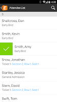 Screenshot of Eventbrite