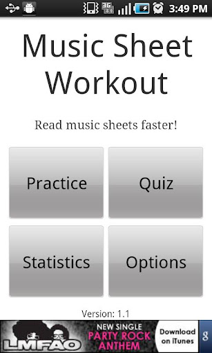 Sheet Music Workout