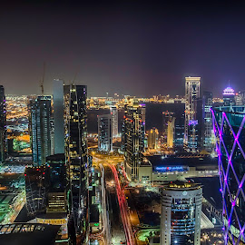 Colorful night in DOha by Maria's Photoclicks - Buildings & Architecture Office Buildings & Hotels (  )