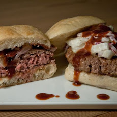 Lamb Burger with Pomegranate Ketchup