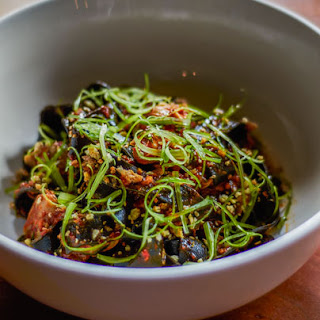 Squid-Ink Tagliatelle with Nduja and Clams