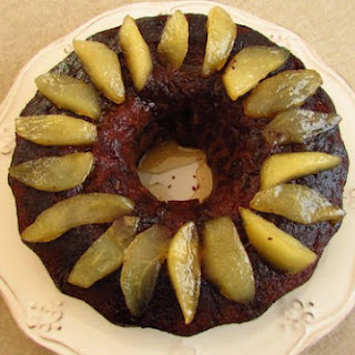 Rosemary Cake Topped With Caramelized Pear