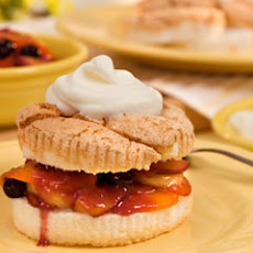 Angel Food Cakes With Warm Fruit Compote