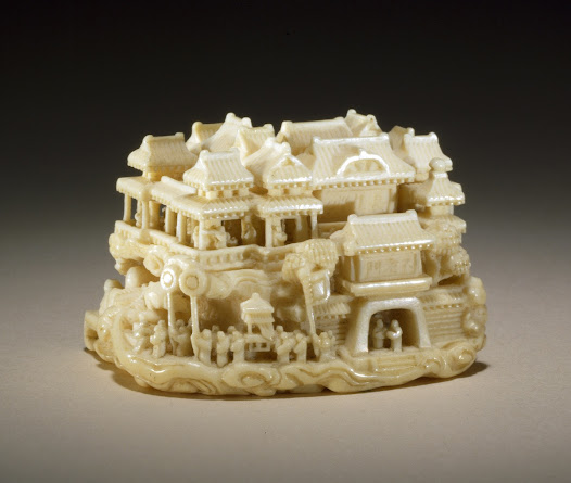 Wood and ivory netsuke the dream of rōsei carved by