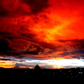 Time to home by Nguyen Trong - Landscapes Weather ( pau, sunset, itb, cloud, lightweight structure laboratory, bandung )