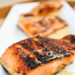 Honey Salmon with Browned Butter Lime Sauce