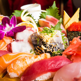 Sushi and Sashimi by Wei San Ooi - Food & Drink Plated Food ( sashimi, japan, sushi, food, japanese,  )