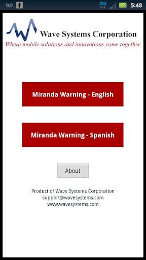 Miranda Warnings Rights