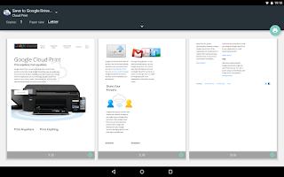 Screenshot of Cloud Print