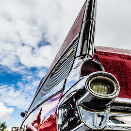 Classic Lines by David Jones - Transportation Automobiles ( 57 belair, car show, hot rod, chevy, red car )