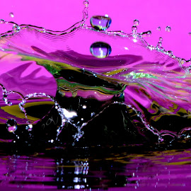 Water splash by Fred Øie - Abstract Water Drops & Splashes ( abstract, waterdrops )