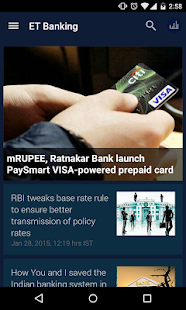 Economic Times Banking Finance screenshot for Android