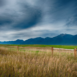 Stormy Skies by Taylor Sanderson - Landscapes Prairies, Meadows & Fields ( clouds, mountains, prairies, weather, storm )