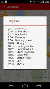BU Bus Tracker - screenshot