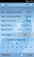 Screenshot of ALPA Part 117 Calc. & Guide