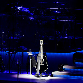 Lone Guitar by Elizabeth Kraker - News & Events Entertainment ( concerts, music, neil diamond, guitars, stage,  )