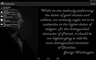 Screenshot of Christian Patriot