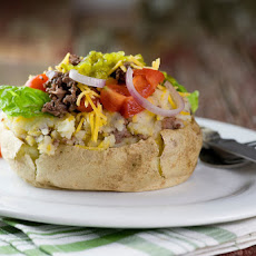 Cheeseburger Baked Potatoes