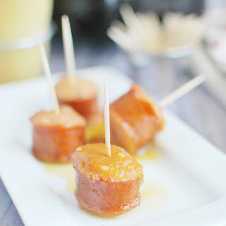 Slow Cooker Apple Kielbasa Bites
