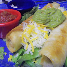 Chicken Flautas With Chunky Guacamole