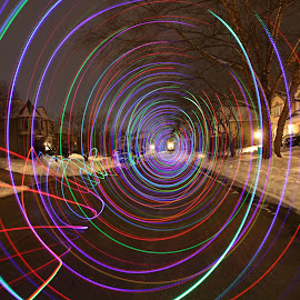 Taxi. by Pete Daley - Abstract Light Painting ( abstract, light painting, night photography, night time, led lights )
