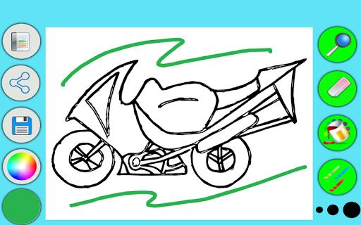 Мотоцикл раскраска игры