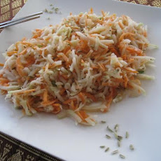 Kohlrabi Salad in Fennel Seed Dressing