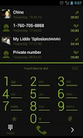 Screenshot of GOContacts Theme Holo Green