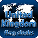 United Kingdom flag clocks icon