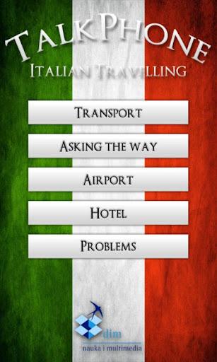 TalkPhone Italian Travelling|玩教育App免費|玩APPs