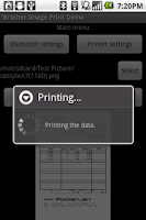 Screenshot of Brother Print Library