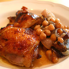 Chicken Thighs And Chickpeas With Marmalade And Mustard