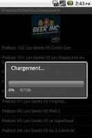Screenshot of freeboxV6GeekIncDownloader