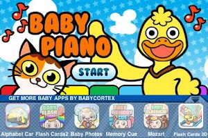 Screenshot of Baby Piano