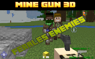 Screenshot of Mine Gun 3d - Cube FPS