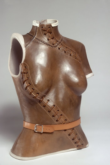 Another type of contemporary corset treats the body not as an idealized female form, or a surrogate for the hard body, but rather as something deeply vulnerable, even wounded.