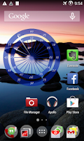 Screenshot of Chakra clock