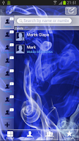 Screenshot of GO Contact Blue Smoke Theme