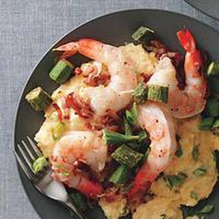 Shrimp and Cheese Grits with Okra
