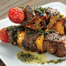 Citrus Beef Skewers With Grapefruit And Garlic