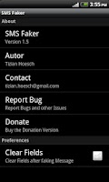 Screenshot of SMS Faker