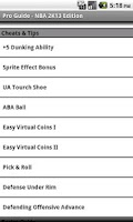 Screenshot of Pro Guide - NBA 2K13 Edition