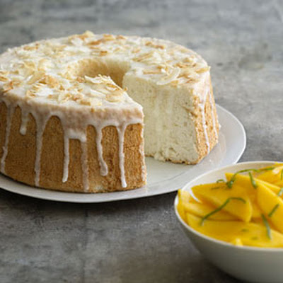Lime-Glazed Angel Food Cake
