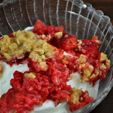 Yogurt with Raspberry Crumble