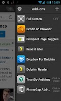 Screenshot of Dolphin: Send To Browser